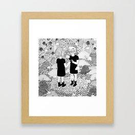 Siamese Twin Framed Art Print