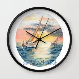 Sailing Yacht Club Wall Clock