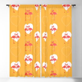 lovebirds - flamingos in love Blackout Curtain