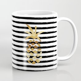 Pineapple & Stripes Coffee Mug