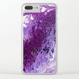 Violet Flames Clear iPhone Case