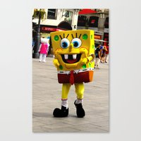 spongebob Canvas Prints featuring Spongebob by Savannah Frances