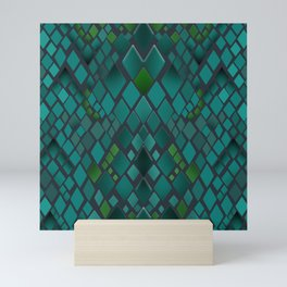 Digital graphics snake skin. Mini Art Print