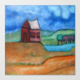 Small Red House Canvas Print