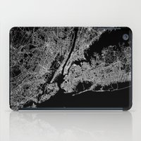 lorde iPad Cases featuring New York map by Line Line Lines