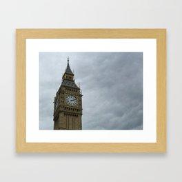 Elizabeth Tower (Big Ben Clock Tower) Framed Art Print