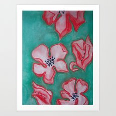Cherry Blossoms Falling (For You) Art Print