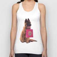 birthday Tank Tops featuring Birthday dog by AvHeertum