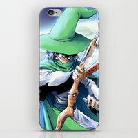 merlin iPhone & iPod Skins featuring Young Merlin by panom