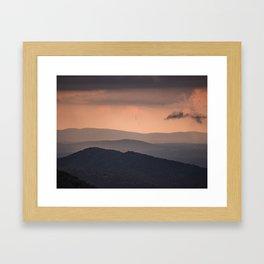 Blue Ridge Parkway Sunset - Shenandoah National Park Framed Art Print