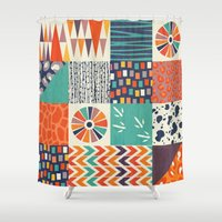 alisa burke Shower Curtains featuring OUT OF AFRICA by Daisy Beatrice