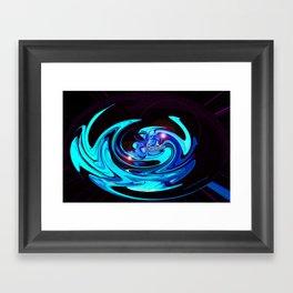 """Cut Blue Diamond""  Framed Art Print"