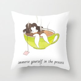 Immerse yourself in the process Throw Pillow