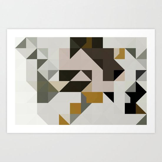 color story - primordial  Art Print