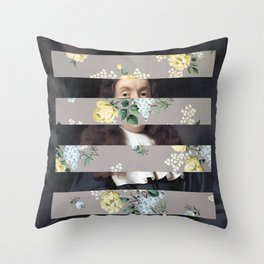 A Portrait With Bars 3 Throw Pillow