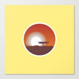 Plain Sunset Canvas Print