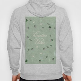 Cactus vibes pattern cactus leaves, tropical desert, green , Christmas gift , society6 Hoody