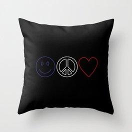 Love Paris Throw Pillow