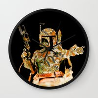 boba Wall Clocks featuring Boba by Robotic Ewe