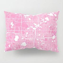 Orlando map pink Pillow Sham