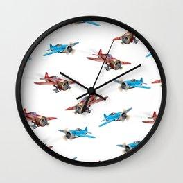 Vintage Planes Wall Clock