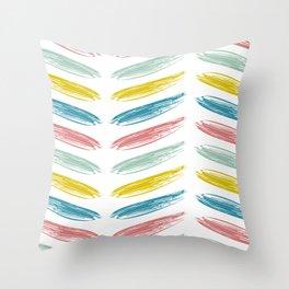 Moroccan Brushstrokes Throw Pillow