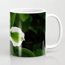 Green-striped White Trillium  (Disease can be beautiful) Coffee Mug