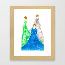 A Chord of Colour Framed Art Print