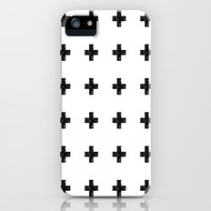 Watercolor Swiss Cross (White) Slim Case iPhone (5, 5s)