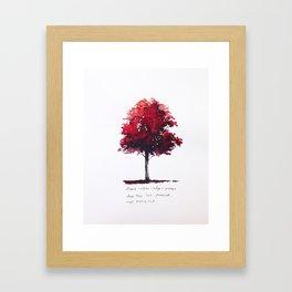 Deep, Passionate, Burning, Rich Framed Art Print