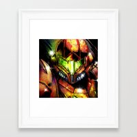 samus Framed Art Prints featuring Samus by Vincent Vernacatola