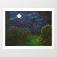 Moonlight Valley Art Print