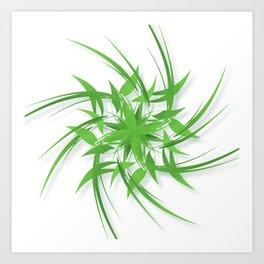 Sprite (green) Art Print
