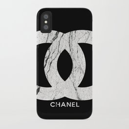 Couture Fashion Designer Inspired Marble Typography iPhone Case