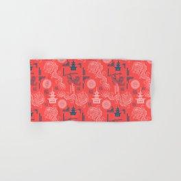 Coral Chinoiserie Hand & Bath Towel