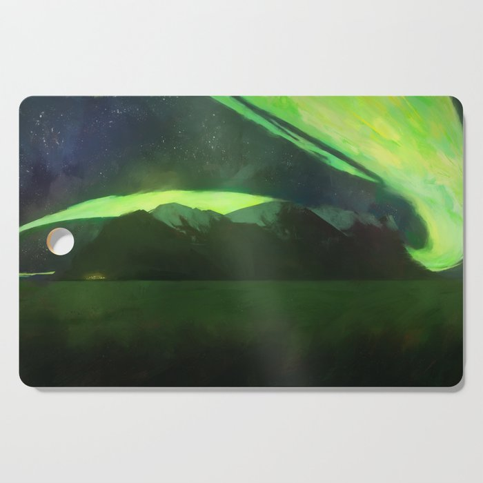 Aurora Borealis Cutting Board
