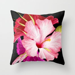 Flower Power – Tropical Style Throw Pillow