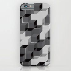 Pixel Cube - Black Silver iPhone 6s Slim Case