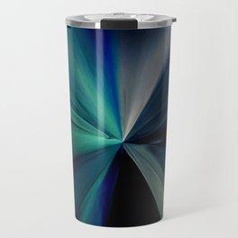Abstract Aqua Blue Design Travel Mug