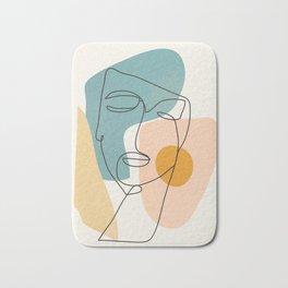 Abstract Face 25 Bath Mat