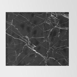 Black Marble Throw Blanket