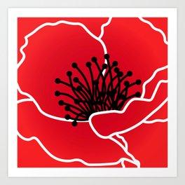 Red Poppy Red Art Print