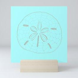 Sand Dollar Dreams - Teal  Mini Art Print
