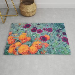 autumn flowers Rug