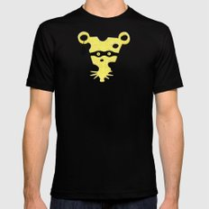Cheese Burglar Black MEDIUM Mens Fitted Tee