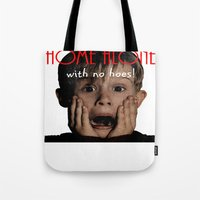 home alone Tote Bags featuring Home Alone by Darius Malone