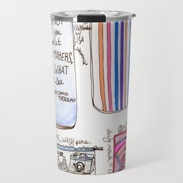 What's in your bag - Illustration Travel Mug