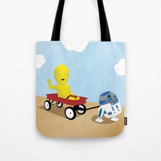SW Kids - C3PO & R2D2 Red Wagon Tote Bag