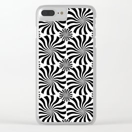 Black Twirl Clear iPhone Case
