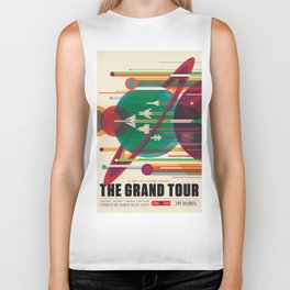 NASA Retro Space Travel Poster The Grand Tour Biker Tank